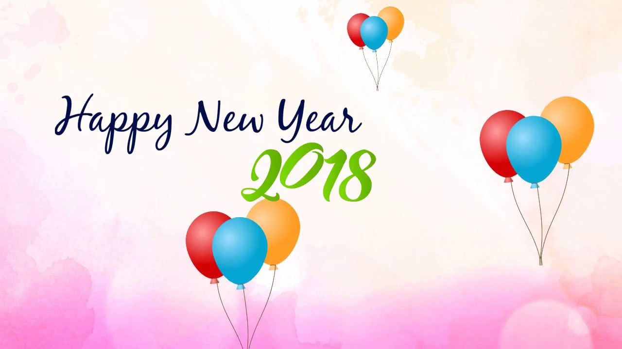 2018 Happy New Year Wishes Background Animated Video To Share - YouTube
