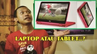 Unboxing Laptop Amerika, Dell Inspiron 3168 Hybrid 2 in 1 plus Review