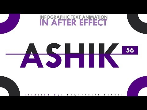 INFOGRAPHIC TEXT Animation & MOTION GRAPHICS In After Effect