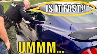 COP Pulls Over NEW SHELBY MUSTANG GT350  and This Happens...