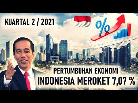 MEROKET !! Dari MINUS, PERTUMBUHAN EKONOMI INDONESIA TIBA TIBA MELUNJAK NAIK 7,07 %
