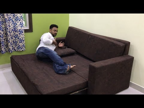 Sofa Cum Bed Video With Price Details | Sofa Cum Bed For Small Bedroom | Interior Jagat - YouTube