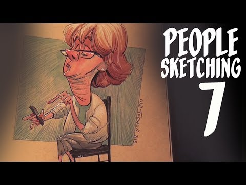 Why artists have trouble finishing things - people sketching - episode 7