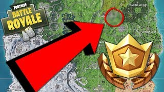 [LOCATION] Week 5 - Search Between Rock Man, Tomato, & Tree | FORTNITE BATTLE STAR CHALLENGE GUIDE