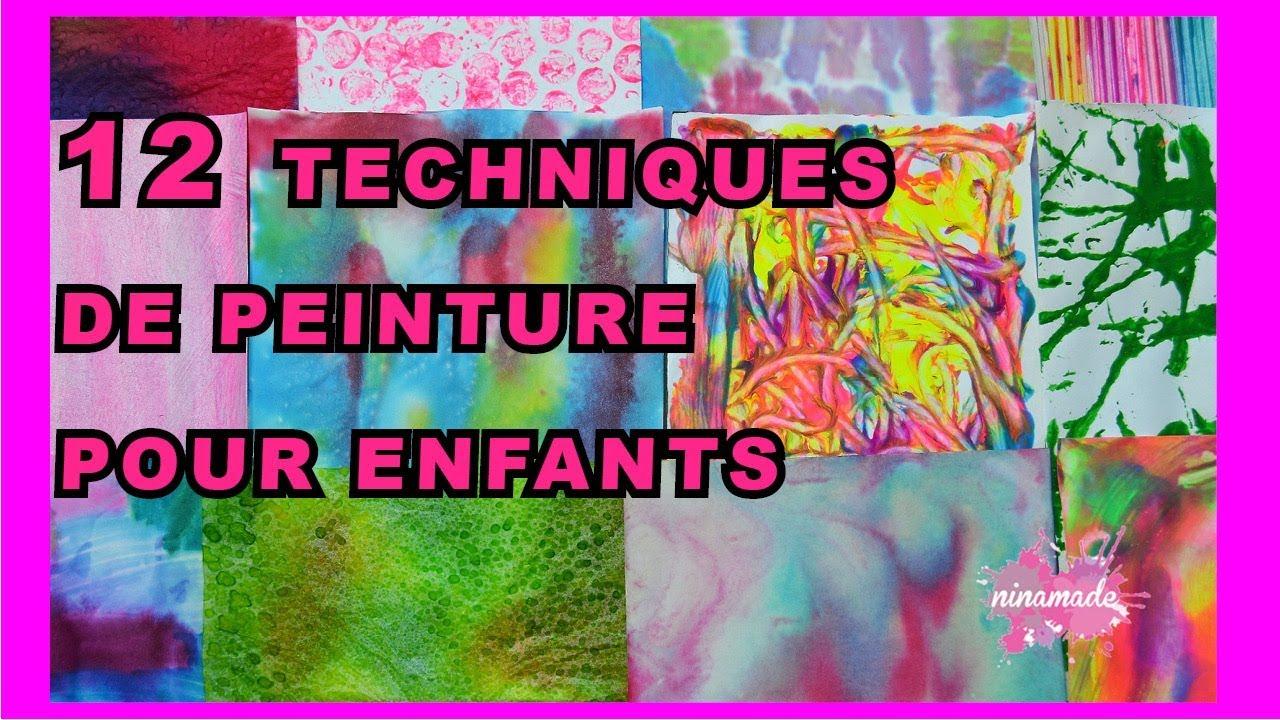 DIY. 12 Techniques De Peinture Pour Enfant // 12 Ways To Paint With Childrens - YouTube