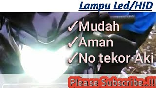 Cara Pasang Lampu LED Jupiter MX New#26_03 tutor