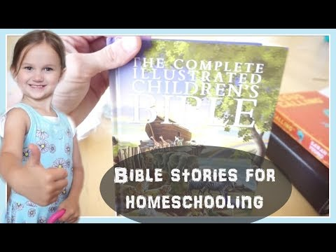 Bible stories book we use for homeschooling (May 4, 2018) vlog