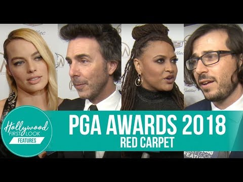 PRODUCER'S GUILD AWARDS 2018  AVA DUVERNAY, MARGOT ROBBIE, & SHAWN LEVY