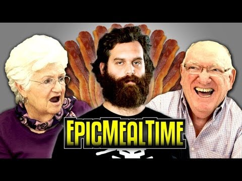 ELDERS REACT TO EPIC MEAL TIME