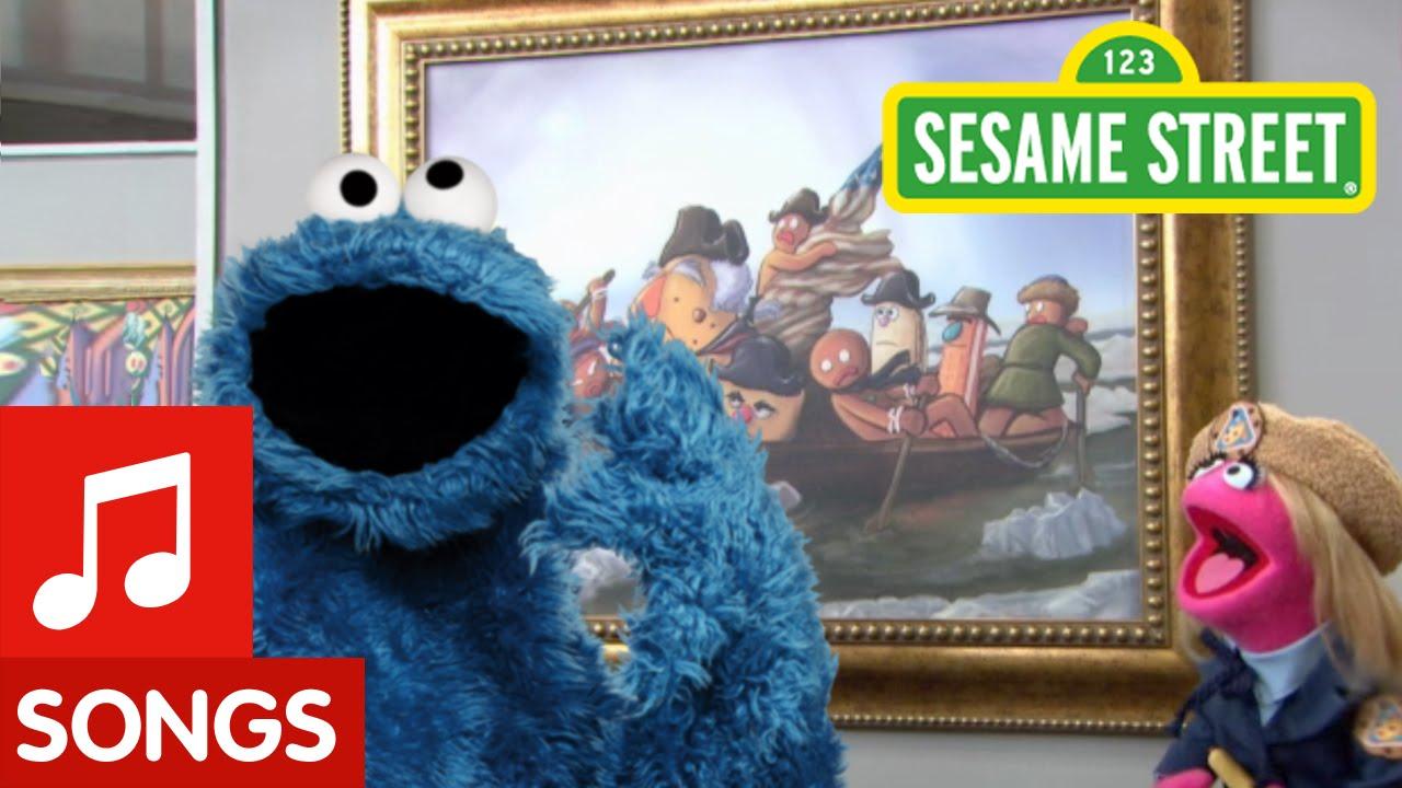 Sesame Street: Me Love Cookie Art (song) - YouTube