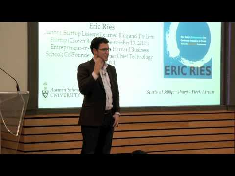 "Watch Eric Ries Discuss ""The Lean Startup"""