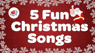 Five Fun Christmas Songs | Popular Kids Christmas Songs | Children Love to Sing