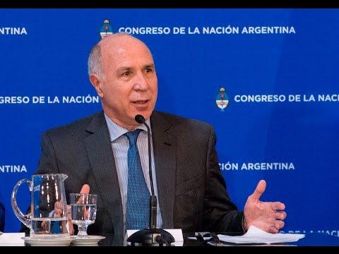 Lorenzetti participó de un encuentro en el Senado sobre narcotráfico