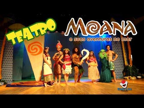 """Moana no Teatro """"momentos/trechos"""" Cia Rindo a toa (1º VERSÃO do cenário e elenco)"""