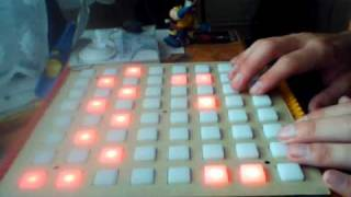 daemon playing on monome - the icy pond
