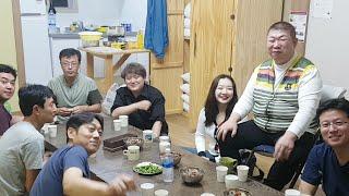 [야방] 문경새재펜션 정모 2부 실내 술먹방