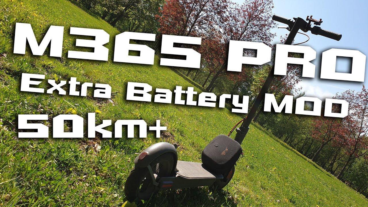Xiaomi M365 PRO external Battery MOD 🛴⚡ Range +100% 50km+ 😍 How To 👍