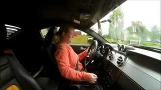 Woman Driving Saleen S302 Parnelli Jones Edition GoPro