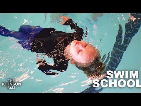 TODDLER SWIM SCHOOL TEST! 😬 She Fell In The Pool!