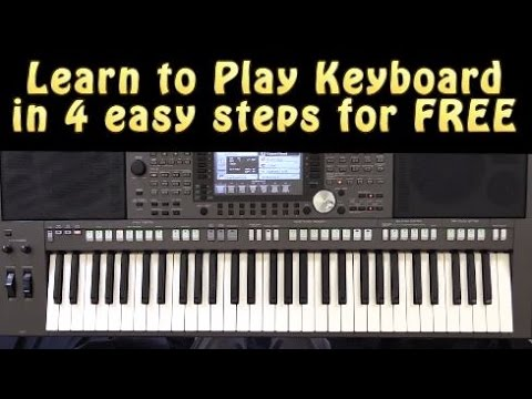 Learn to Play Keyboard in 4 Easy Steps for FREE