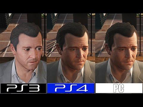 Gta V Pc Vs Ps4 Vs Ps3 Graphics Comparison Youtube
