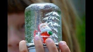 Сделать снежный шар своими руками Самый Легкий Способ без глицерина и глиттера.Новогодние поделки