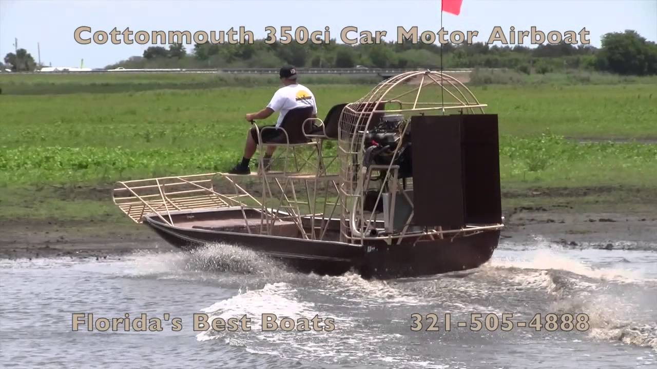 Cottonmouth 350ci Airboat
