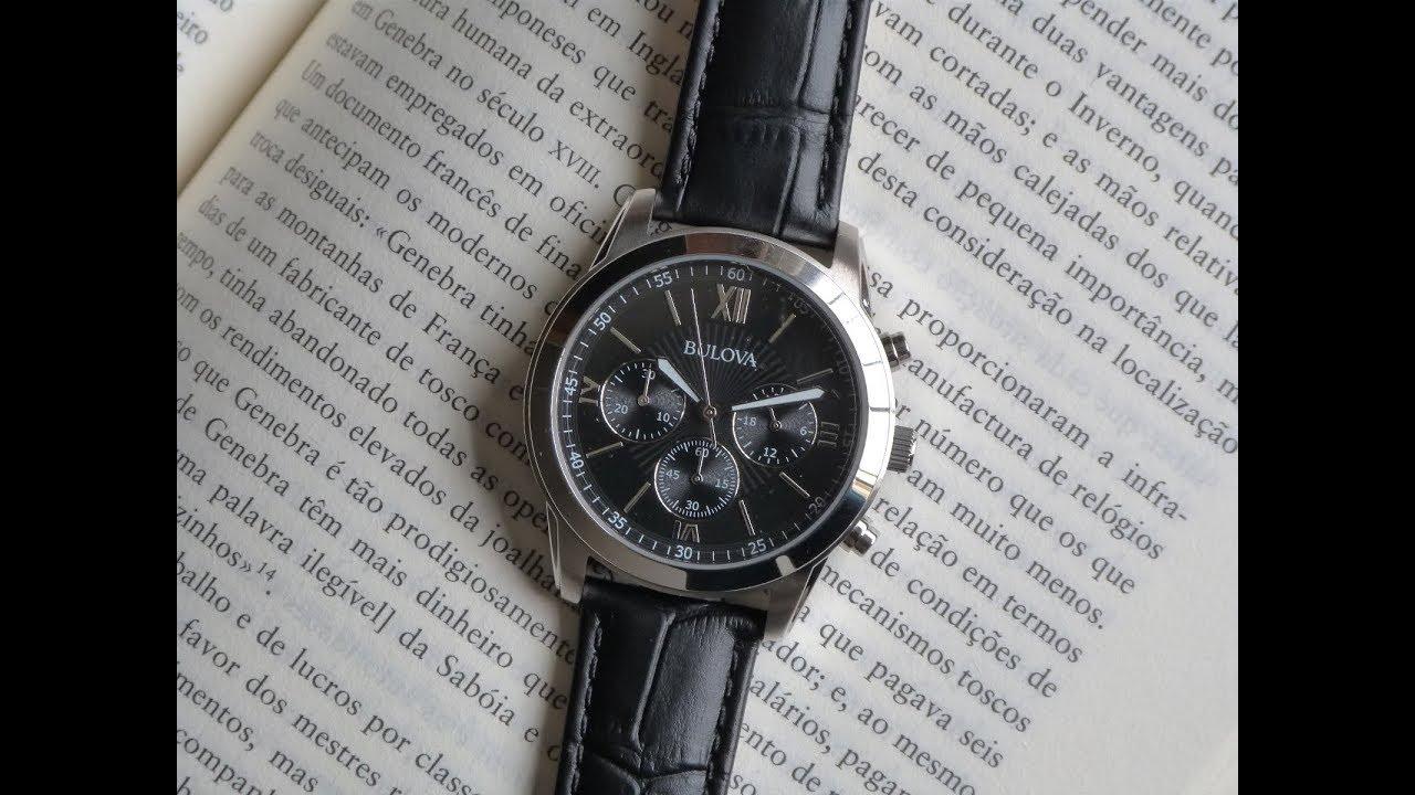 b1a5bd7a161 Relógio Bulova Preto WB22382T Pulseira de Couro Esportivo - YouTube