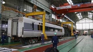 鉄道車体クレーン移動実演(H30金沢総合車両所一般公開)