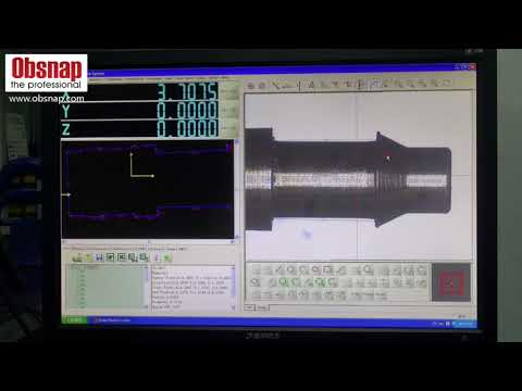 Using Manual Video Measuring System (JVB-300) To Measure A Pen-tip.