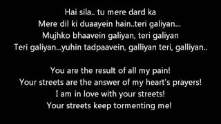 Galliyan from Ek Villain lyrics with translation