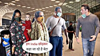 Salman Khan and His Family Ready to Enjoying Vacation Arriving Mumbai Airport | with Brother-Sister