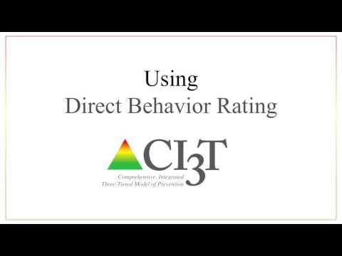 Using Direct Behavior Rating