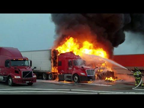 Trucks Burn in