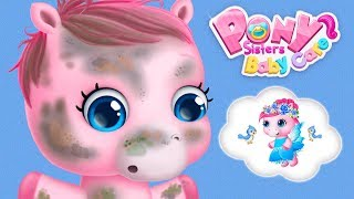 Fun Animal Horse Care - Learn Baby Pony Sisters Dress Up, Care Games