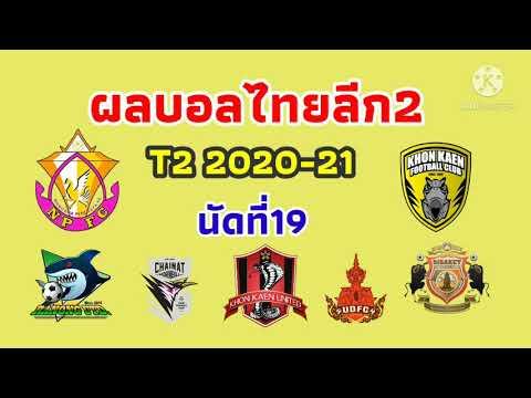 ผลบอลไทยลีก2 เสาร์ 06-02-64//หนองบัวเฉือนหวิว จงอางผยองยิงขาด