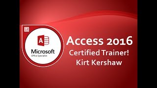 Microsoft Access 2016 Tutorial for Beginners - How to Use Access Part 1