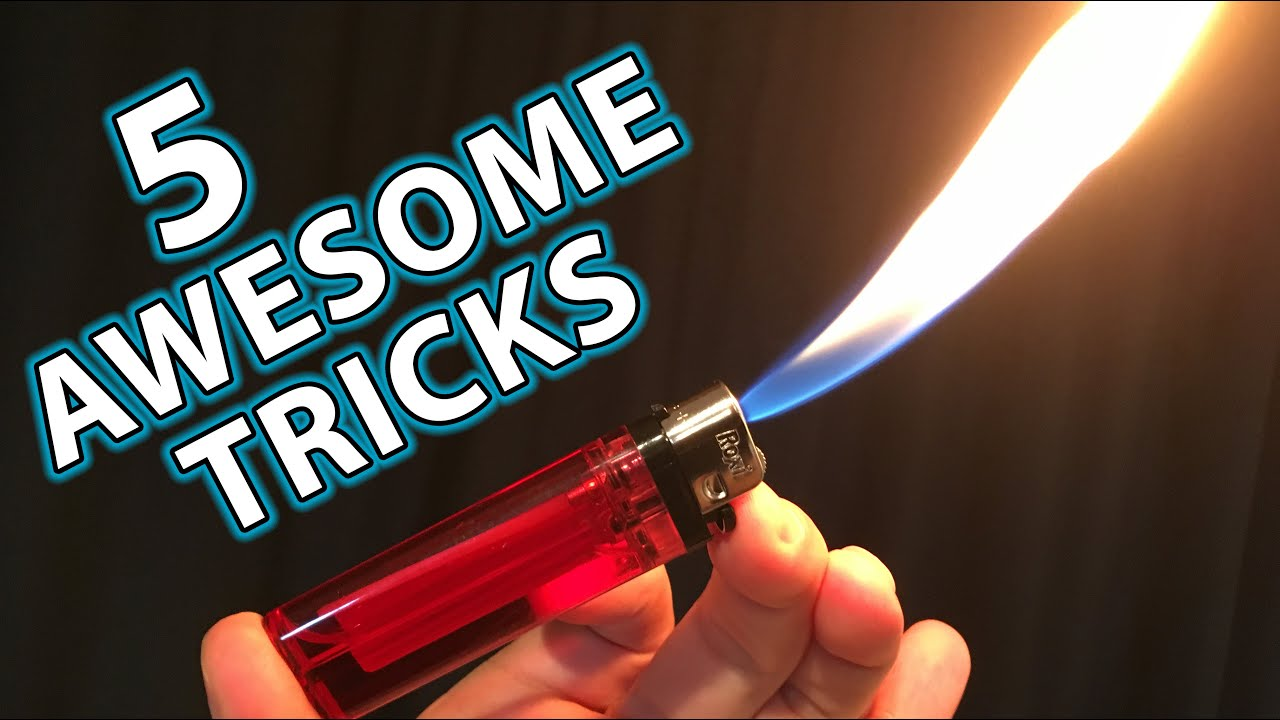 5 Awesome Magic Tricks Hacks with Lighters - YouTube