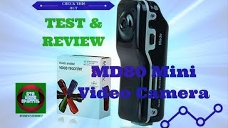 MD80 Mini Video Camera Review & Test