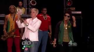(2012-12-18) The Ellen Show - Locked Out Of Heaven performance by Bruno Mars