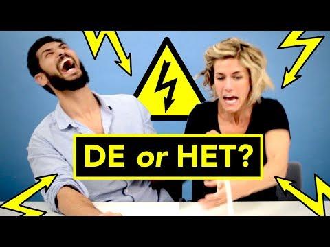 ELECTRIC SHOCK challenge ⚡ Dutch language students: DE or HET?