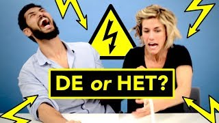 ELECTRIC SHOCK challenge ⚡ Dutch language students: DE or HET?