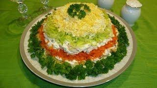"""Салат с куриным филе и овощами """"Весенний день"""""""