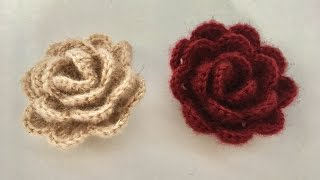 Tığ İşi Gül Yapımı / Örgü GülYapımı / Tığ iş çiçek yapımı