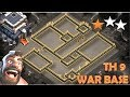 TH 9 (TOWN HALL 9)ANTI 2 STARS WAR BASE 2018 || CLASH OF CLANS