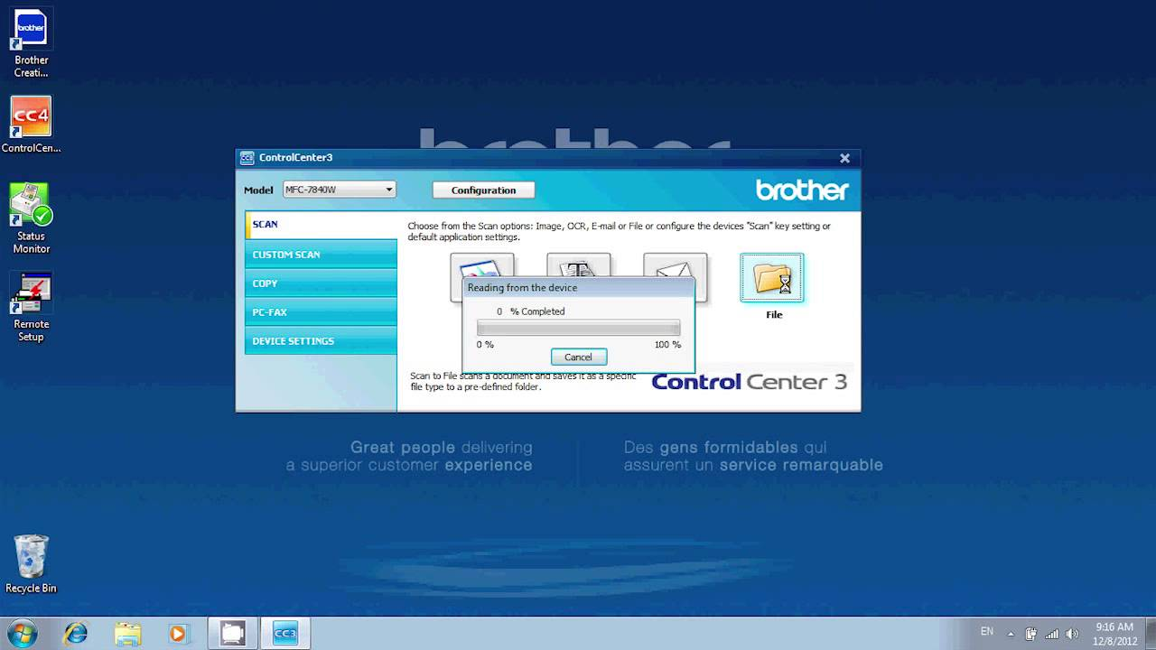 How to Scan on a PC using a Brother Multi-function Center