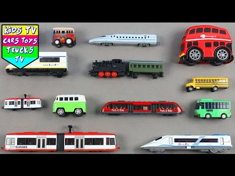 Learn Names Of Buses And Trains For Kids Children Babies Toddlers | Kids TV Preschool | Bus & Trains