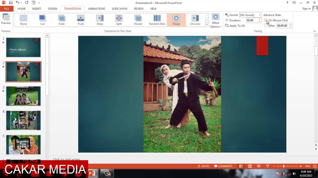 cara membuat video album dengan power point