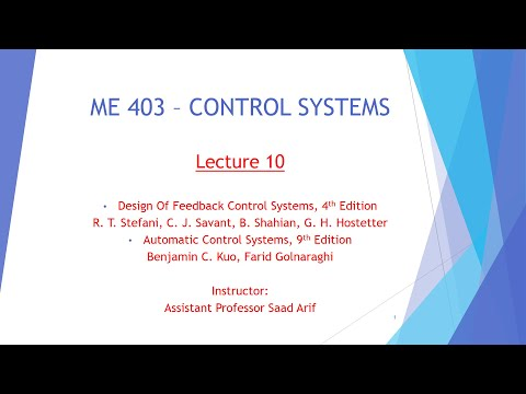 Control Systems Lecture 10 Part 1 Youtube