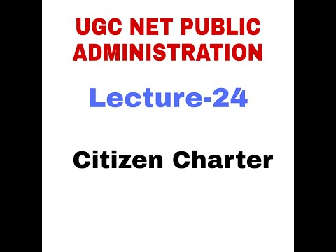 The Citizen Charter. Public Administration